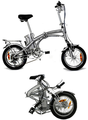 bicicleta electrica urban 16 plegable